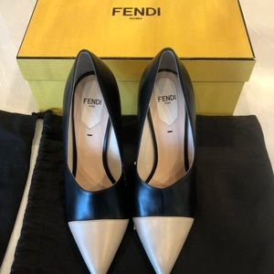 Fendi pointed two tone pumps